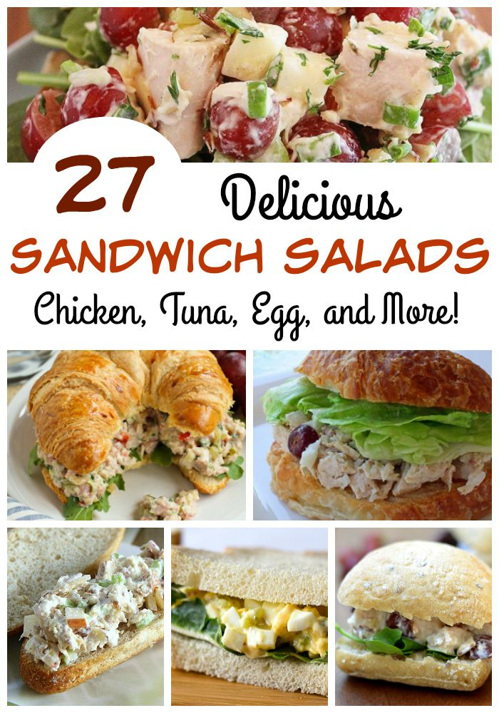 Be the HIT at your next potluck with one of these 27 delicious sandwich salad recipes!
