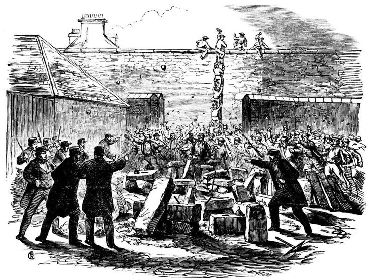 Attempted Escape of Prisoners from Darlinghurst Goal November 1864
