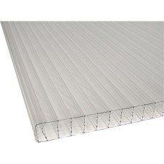 Plaque polycarbonate alvéolaire 32 mm claire , 3 x 1.25m, DHAZE