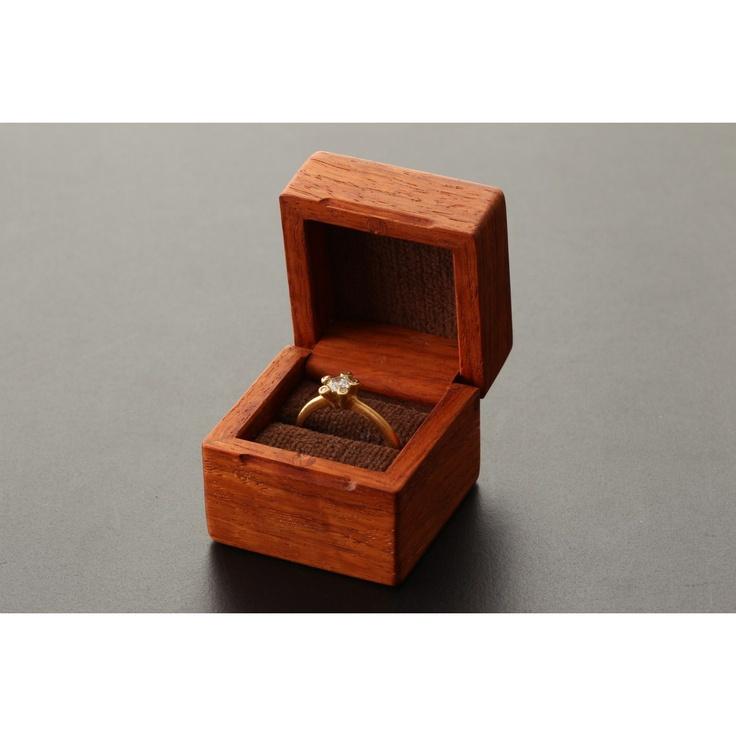 tek/指輪入 カリン×栗茶 8400yen 大切な想いとともにずっと使っていきたい、木の指輪ケース