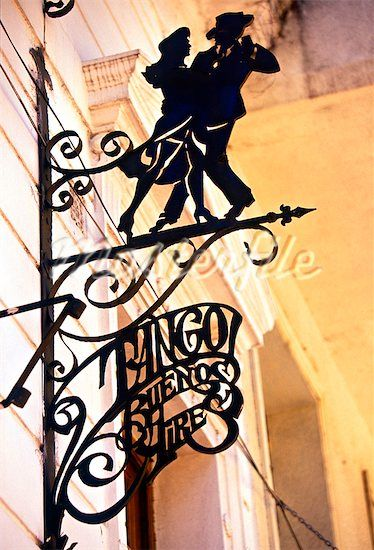 Tango club sign, Buenos Aires