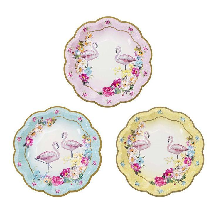 Truly Flamingo Plates