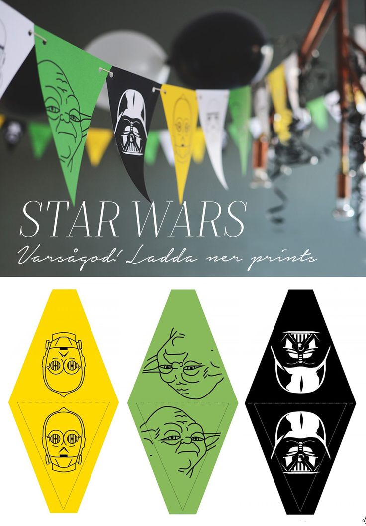 May the 4th be with you! Free download for star wars banner, Fria printar till star wars-flaggspel @helenalyth
