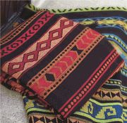 Rubio Southwestern Tapestry Throw in Red or Blue