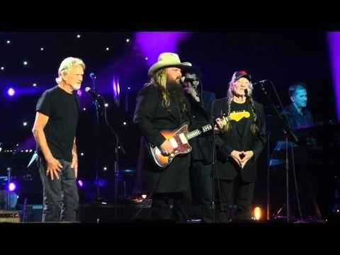 Willie Nelson, Kris Kristofferson & Chris Stapleton at John Lennon's 75th Birthday Concert 12-5-15 - YouTube