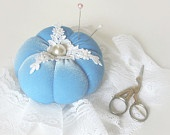 Pincushion BLUE SHABBY CHIC