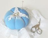 Pincushion BLUE SHABBY CHIC