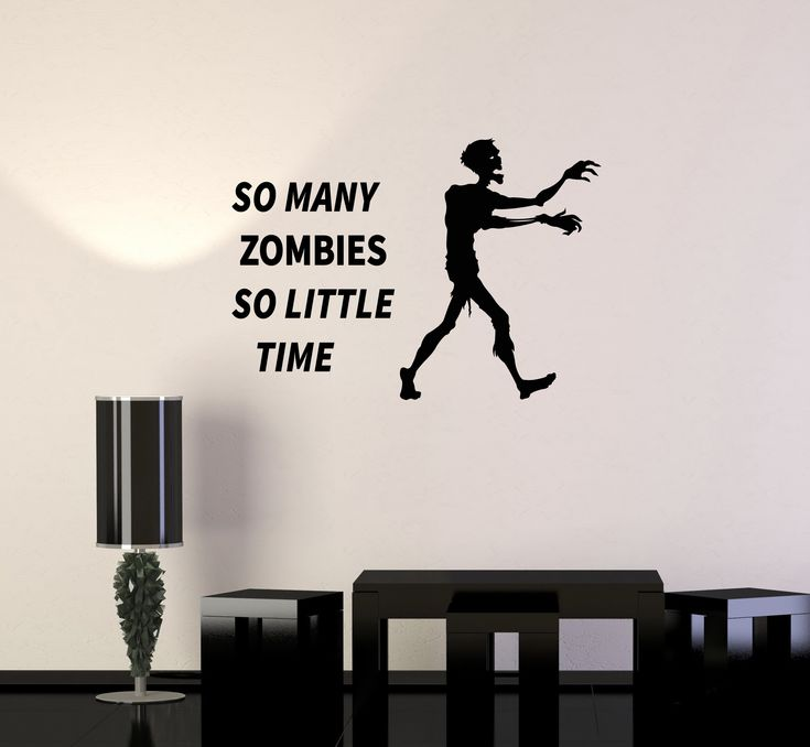 Vinyl Wall Decal Zombie Hunter Funny Quote Gamer Room Interior Stickers Mural (ig6009)
