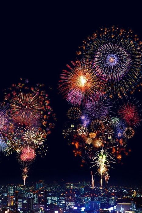 The sky's the limit — hire a full-scale pyrotechnic company to bring in 2016 with some psychedelic bang.