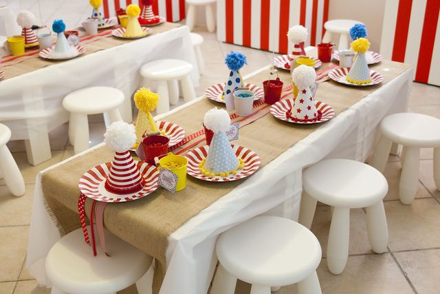 Cute kids' party table, hire the table and similar chairs from use and the rest is up to your imagination