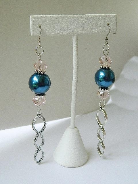 Long dangle earrings blue pearl by JewelrybyDecember67 on Etsy, $25.00: December 67, Blue Pearl, Etsy, Dangle Earrings, Earrings Blue, Long Dangle