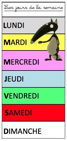 Days of the week in French   les jours de la semaine en français