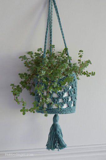 Haakpatroon Plantenhanger Haakpatronen Pinterest Crochet