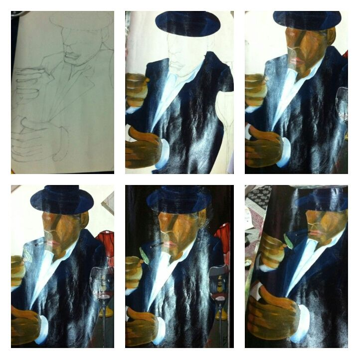 It is a step by step process of oil painting. How to draw oil painting easily with each step drawn in this painting can help you to make the painting