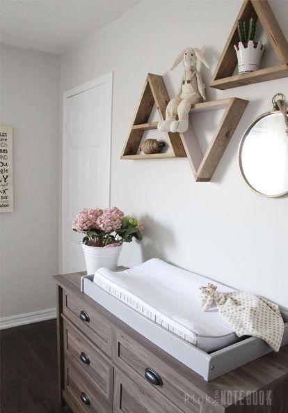 Décoration chambre bébé fille, chaleureuse, neutre, bois   – Home