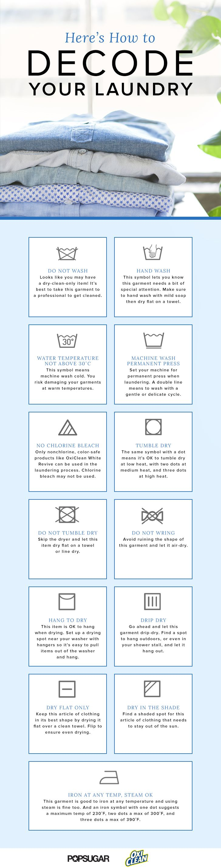 How to Decode Laundry Labels | POPSUGAR Smart Living