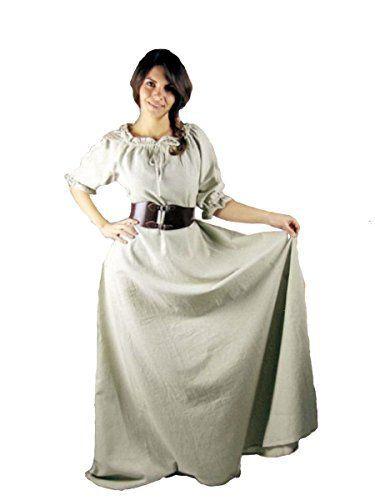 Dark Dreams Mittelalter Wikinger Kleid Gewand Beltaine 36 38 40 42 44 46