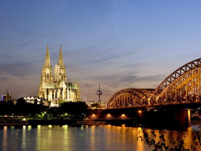 A River Cruise in Europe is a lovely way to see all of the countries in Europe. River cruises take you though some of the oldest cities, and stop right in the heart of them. See things like the Cologne Cathedral and Hohenzollern Bridge at Night, Cologne, North Rhine Westphalia, Germany