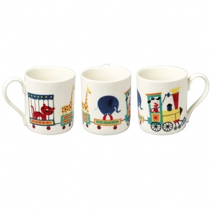 Circus Parade Childrens' Mugs by hellopolly #Mugs #Kids #hellopolly