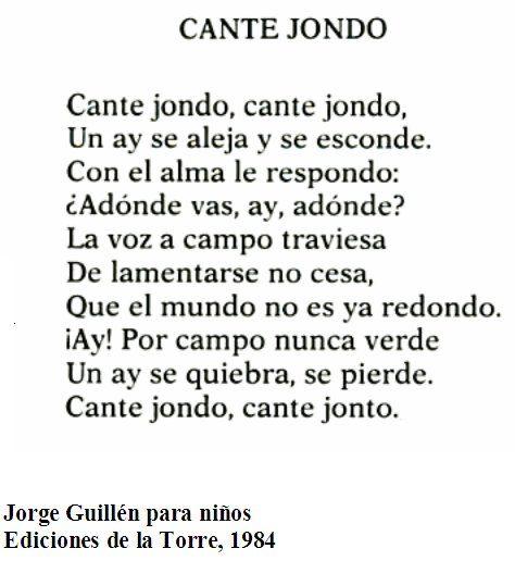 Poema de Jorge Guillén, autor de la Generación del 27.