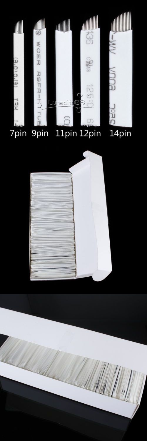 Tattoo Needles Grips and Tips: Lots Flexible Microblading Needles -Tattoo Permanent Makeup Manual Eyebrow Blade -> BUY IT NOW ONLY: $64.56 on eBay!