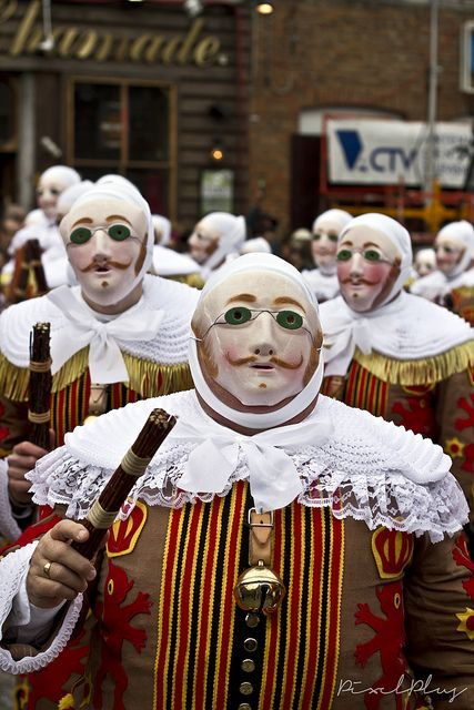 The history of the Carnaval de Binche in Belgium, held yearly on Shrove Tuesday, dates back to the 14th century. Listed by Unesco as a Masterpiece of the Oral and Intangible Heritage of Humanity, the Binche carnival sees local men, known as Gilles, stomp around while wearing strange green-eyed masks and shaking sticks to ward off evil spirits. The carnival dates back to the 14th century.