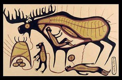>>> Norval Morrisseau Facts, Articles & Art: Jo-Go Way Moose Dream - Norval Morrisseau - 1964