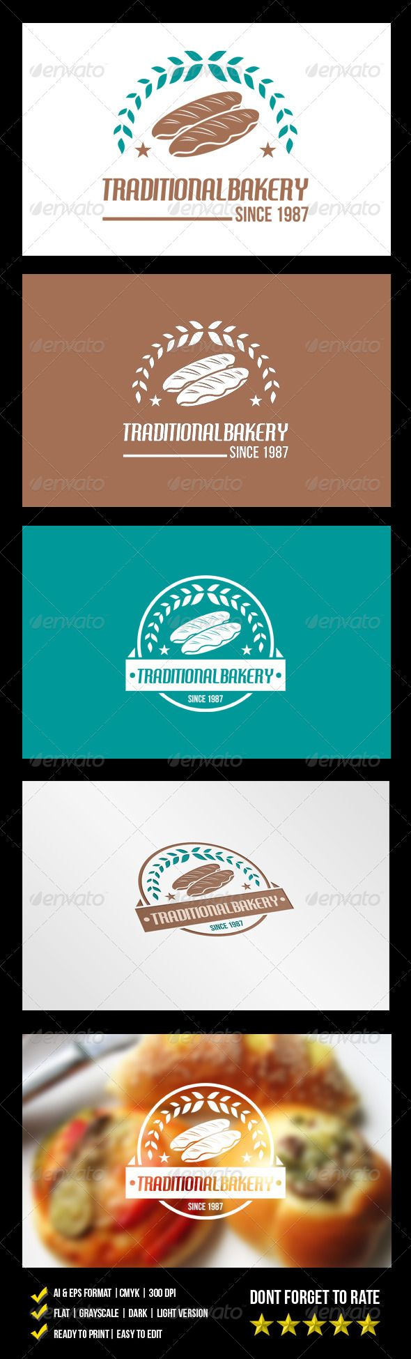 Traditional Bakery Logo - graphicriver sale