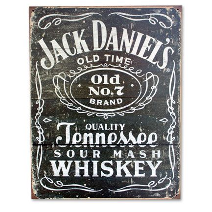 Jack Daniel's Logo Woodcut Sign - Man Cave/Garage decorating