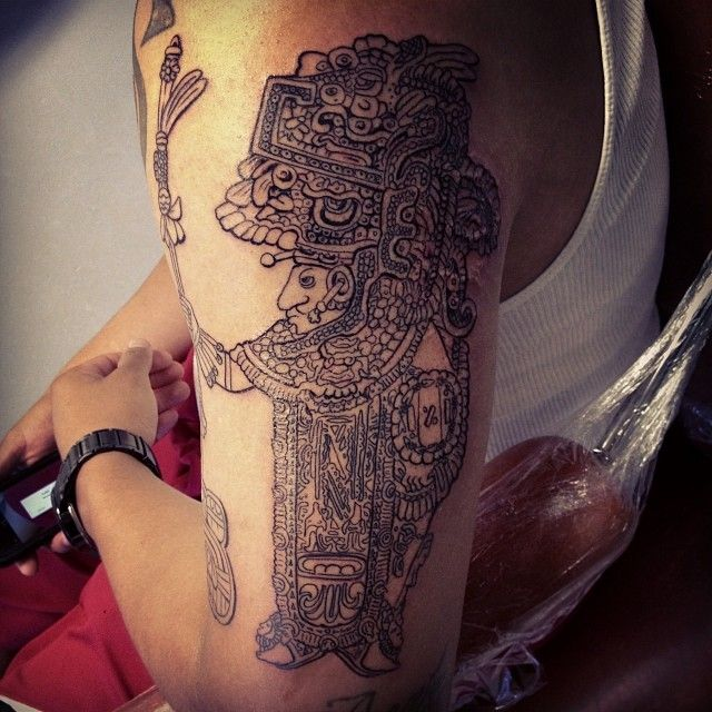 50 Symbolic Mayan Tattoo Designs – Fusing Ancient Art with Modern Tattoos Check more at http://tattoo-journal.com/best-mayan-tattoo-designs-meaning/                                                                                                                                                                                 More