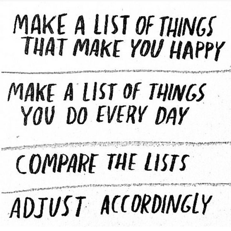 Image result for make a list of things you love and compare with