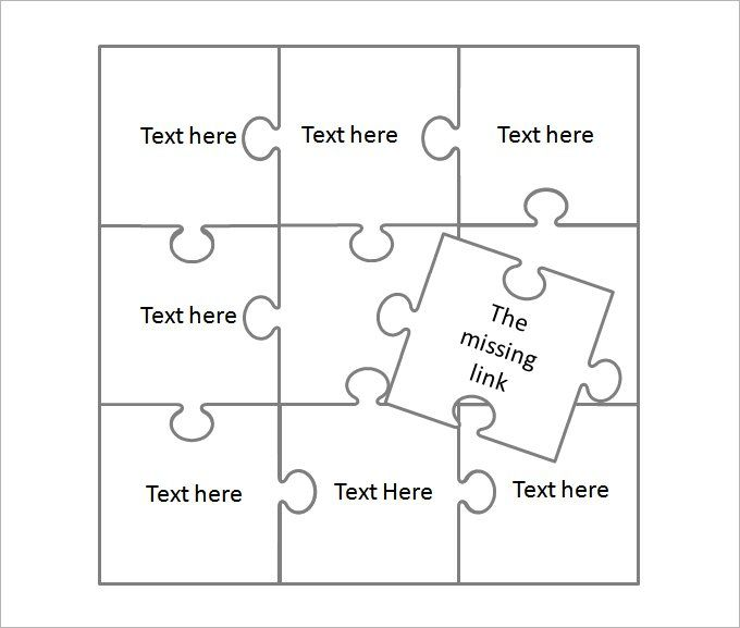 25 best ideas about Puzzle Piece Template – Puzzle Piece Template