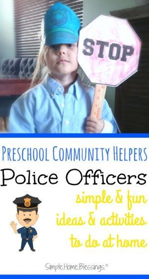 preschool police man unit as part of a community helpers theme lots of great simple ideas for. Black Bedroom Furniture Sets. Home Design Ideas