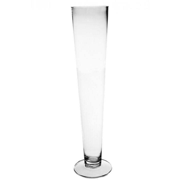 4 x 20 Clear Glass Trumpet Vase (BULK Case of 8 = $11.63 Per Vase) [VTV0420 Bulk Glass Trumpet Vase] : Wholesale Wedding Supplies, Discount Wedding Favors, Party Favors, and Bulk Event Supplies