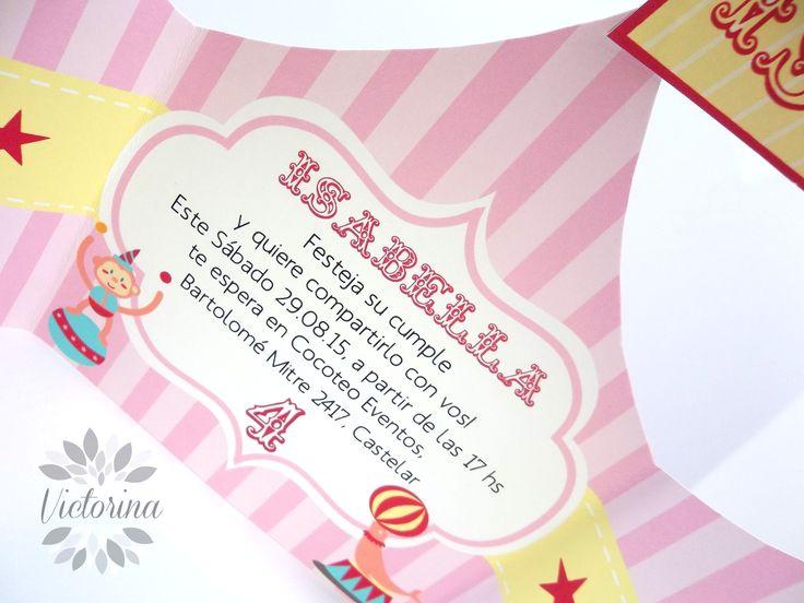 Invitacion ''Carpa de Circo''