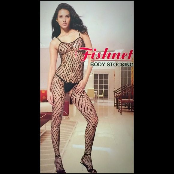 Black Fishnet Bodystocking w/Diamond DesignsNWTs Unbelievably sexy black fishnet body stocking with cool diamond designs! With Spaghetti straps and intricate detail, u can wear this with a dress...but what a erotic surprise for ur partner when they see underneath it's a full body stocking! New with tags!  Intimates & Sleepwear