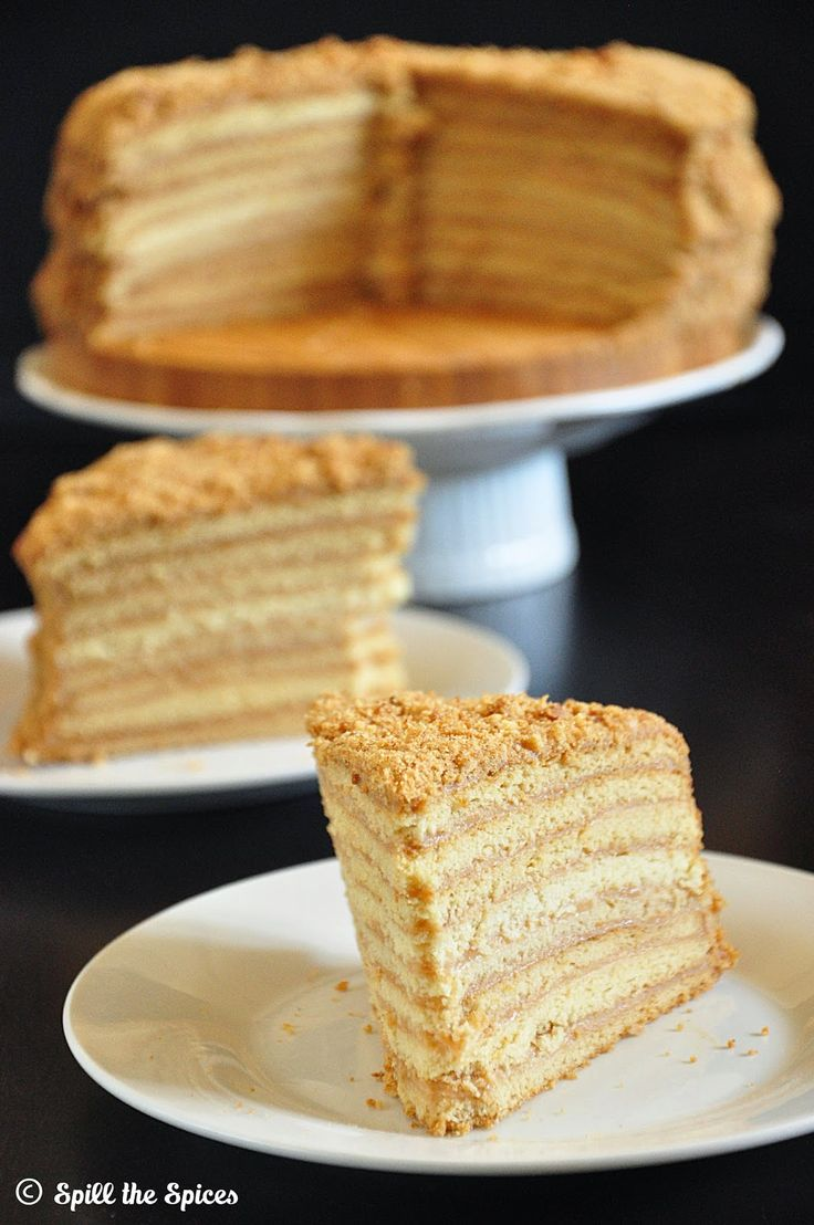 Honey and pear layer cake recipe