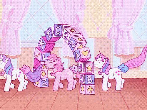 MLP my little pony marshmallow world nusery gif via @catarinaregina pastel doll queen mwah xo .。.:*❤