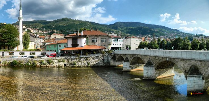Bascarsija, Sarajevo, Bosnia and Herzegovina, Nikon Coolpix L310, 4.5mm, 1/800s, ISO 80, f/3.1, panorama mode: segment 2, HDR-Art photography, 201607101617