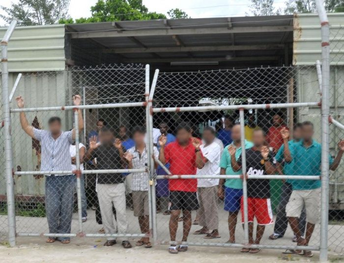 Manus Island guard stood down after posts endorsing Reclaim Australia and anti-halal views  Facebook posts by detention centre guard John Akrigg include article suggesting Muslims 'can't be Australians'