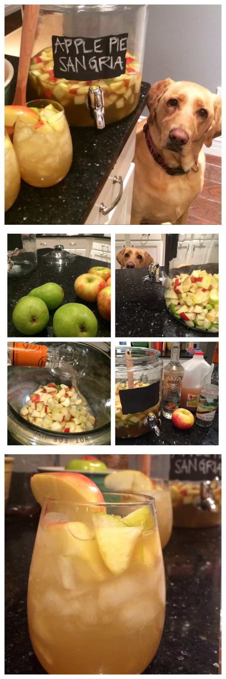 APPLE PIE SANGRIA!! The absolute best drink for fall! This cocktail is amazing! Perfect for thanksgiving.  YUM! - The Cookie Rookie