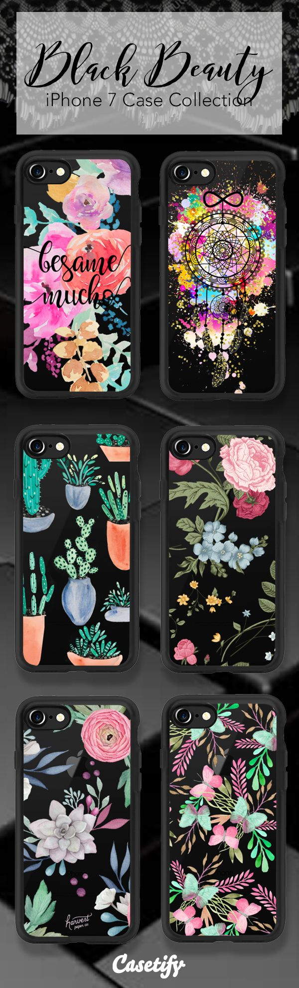 Jet Black - Shop these iPhone 7 case here >> https://www.casetify.com/collections/black_beauty#/