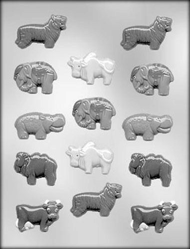 Wild Animal Assortment Chocolate Candy Mold by CakeAndCandyDreams
