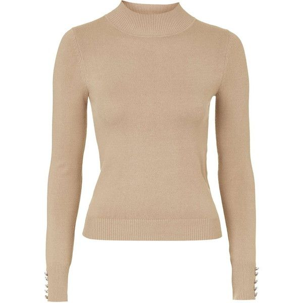 TOPSHOP PETITE Clean Funnel Jumper ($48) ❤ liked on Polyvore featuring tops, sweaters, camel, petite, petite jumpers, topshop, funnel neck top, petite sweaters and funnel neck sweater