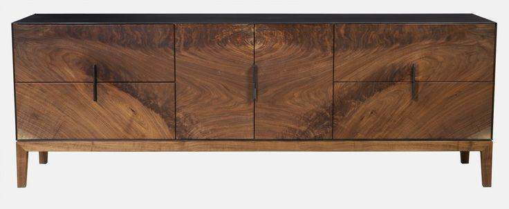 Taper Series Media Cabinet  Contemporary, Industrial, Organic, Transitional, Metal, Mixed Media, Natural Material, Wood, Media Consoles  Media Cabinet by Modern Industry