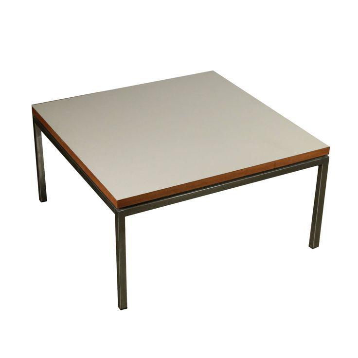 Coffee Table Chromed Metal Formica Vintage Italy 1960s 1970s Wohnzimmertische Couchtisch Metall Vintage Beistelltische