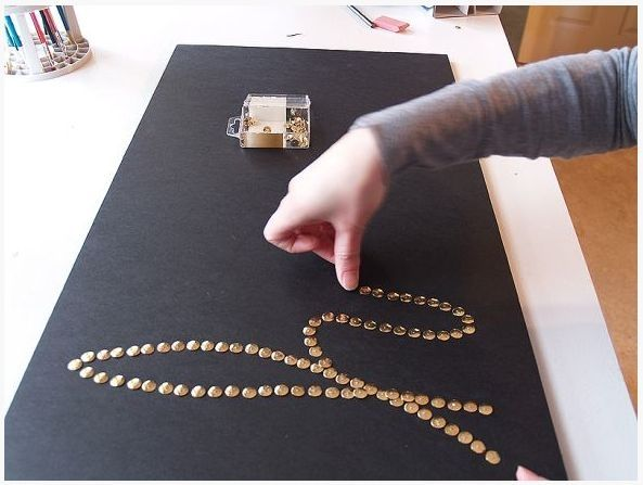 Create words with brass push pins in a foam board and frame. Quick, original, affordable art. by sarahx