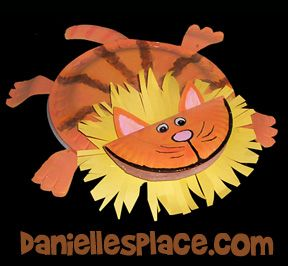 Lion Paper Plate Craft for Kids from www.daniellesplace.com
