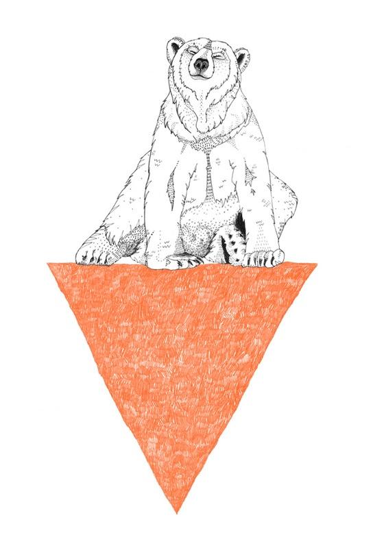 Polar Bear Triangle by Sandra Dieckmann   Society6