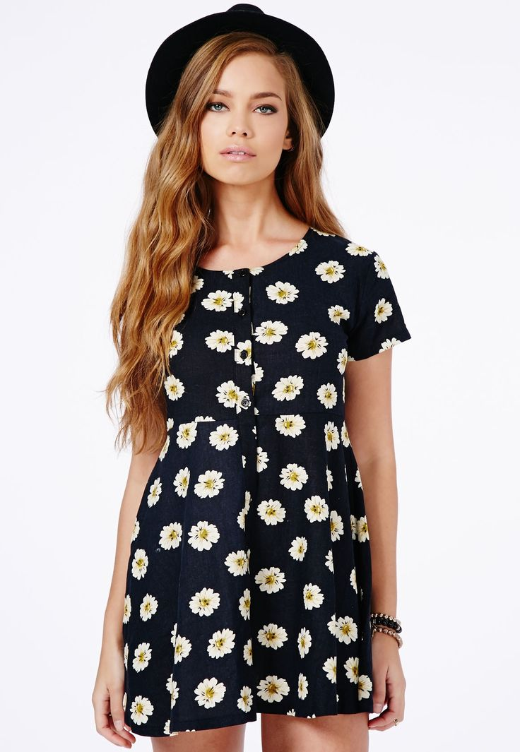 Demi Daisy Skater Shirt Dress - Dresses - Skater Dresses - Missguided | Ireland